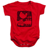 Woodstock Summer 69 Infant Baby Snapsuit Romper Red