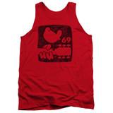 Woodstock Summer 69 Adult Tank Top Red
