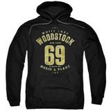 Woodstock White Lake Adult Pullover Hoodie Sweatshirt Black