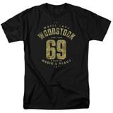 Woodstock White Lake S/S Adult 18/1 T-Shirt Black