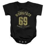 Woodstock White Lake Infant Baby Snapsuit Romper Black