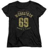 Woodstock White Lake S/S Women's T-Shirt Black