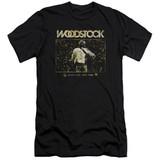 Woodstock White Lake Crowd Premuim Canvas Adult Slim Fit 30/1 T-Shirt Black