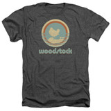 Woodstock Bird Circle Adult Heather T-Shirt Charcoal