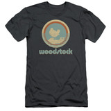 Woodstock Bird Circle S/S Adult 30/1 T-Shirt Charcoal