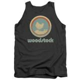 Woodstock Bird Circle Adult Tank Top Charcoal
