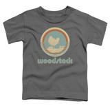 Woodstock Bird Circle S/S Toddler T-Shirt Charcoal