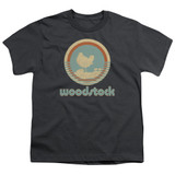 Woodstock Bird Circle S/S Youth 18/1 T-Shirt Charcoal