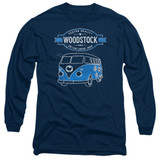 Woodstock Van Long Sleeve Adult 18/1 T-Shirt Navy