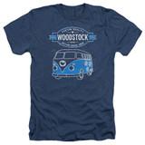Woodstock Van Adult Heather Navy T-Shirt