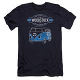 Woodstock Van Premuim Canvas Adult Slim Fit 30/1 T-Shirt Navy