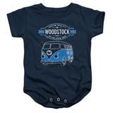 Woodstock Van Infant Baby Snapsuit Romper Navy