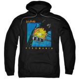 Def Leppard Pyromania Adult Pullover Hoodie Sweatshirt Black
