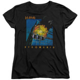 Def Leppard Pyromania Women's T-Shirt Black