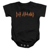 Def Leppard Horizontal Logo Baby Onesie T-Shirt Black