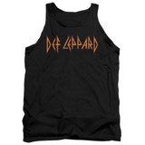 Def Leppard Horizontal Logo Adult Tank Top T-Shirt Black