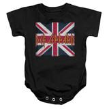 Def Leppard Union Jack Baby Onesie T-Shirt Black