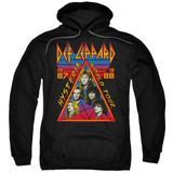 Def Leppard Hysteria Tour Adult Pullover Hoodie Sweatshirt Black