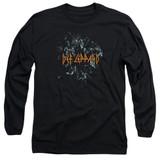 Def Leppard Broken Glass Long Sleeve Adult T-Shirt Black