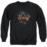 Def Leppard Broken Glass Adult Crewneck Sweatshirt Black