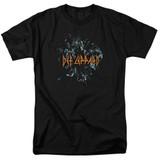 Def Leppard Broken Glass Adult 18/1 T-Shirt Black