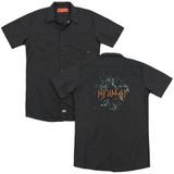 Def Leppard Broken Glass (Back Print) Adult Work Shirt Black