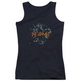 Def Leppard Broken Glass Junior Women's Tank Top T-Shirt Black