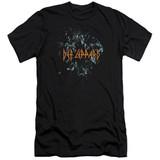 Def Leppard Broken Glass HBO Adult 30/1 T-Shirt Black