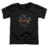 Def Leppard Broken Glass Toddler T-Shirt Black