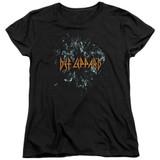 Def Leppard Broken Glass Women's T-Shirt Black