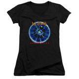 Def Leppard Adrenalize Junior Women's V-Neck T-Shirt Black