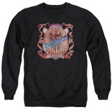 Dokken Back Attack Adult Crewneck Sweatshirt Black