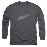 Dokken Breaking The Chains Adult Long Sleeve T-Shirt Charcoal
