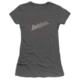 Dokken Breaking The Chains Junior Women's Sheer T-Shirt Charcoal