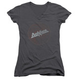 Dokken Breaking The Chains Junior Women's V-Neck T-Shirt Charcoal
