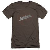 Dokken Breaking The Chains Premium Canvas Adult Slim Fit T-Shirt Charcoal
