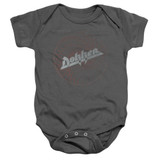 Dokken Breaking The Chains Baby Onesie T-Shirt Charcoal