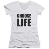 Wham Choose Life Junior Women's T-Shirt V Neck White