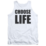 Wham Choose Life Adult Tank Top White