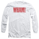 Wham Logo Long Sleeve Adult 18/1 T-Shirt White