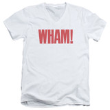 Wham Logo S/S Adult V Neck 30/1 T-Shirt White
