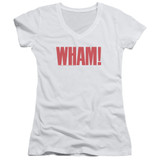 Wham Logo Junior Women's T-Shirt V Neck White