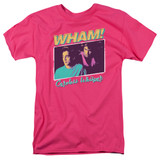Wham Careless Whisper S/S Adult 18/1 T-Shirt Hot Pink