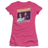 Wham Careless Whisper S/S Junior Women's T-Shirt Sheer Hot Pink