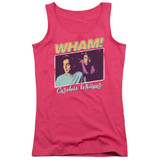 Wham Careless Whisper Junior Women's Tank Top Hot Pink