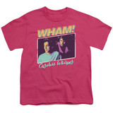 Wham Careless Whisper S/S Youth 18/1 T-Shirt Hot Pink