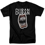 Duran Duran Pressure Off Adult 18/1 T-Shirt Black