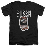 Duran Duran Pressure Off Adult V-Neck T-Shirt Black