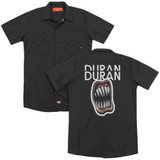 Duran Duran Pressure Off (Back Print) Adult Work Shirt Black
