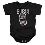 Duran Duran Pressure Off Baby Onesie T-Shirt Black